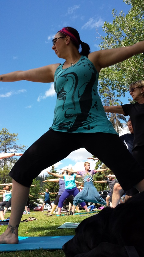 Michelle Outdoor yoga-warrior