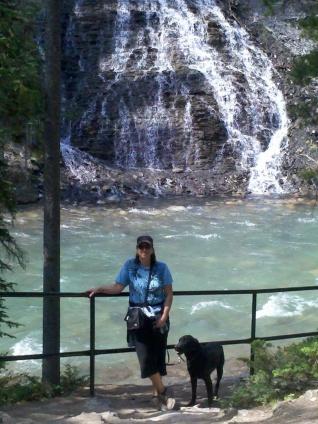 Michelle waterfall dog